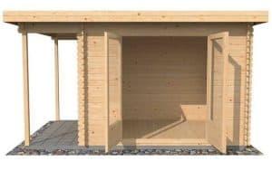 4x2.5 Waltons Zen 1 Log Cabin Front View