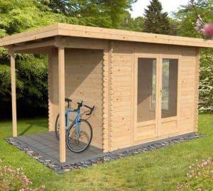 4x2.5 Waltons Zen 1 Log Cabin Side View