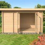 4x2.5 Waltons Zen 2 Log Cabin Front
