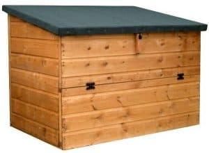 4x3 Waltons Wooden Garden Storage Chest Closed Door