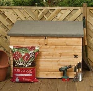 4x3 Waltons Wooden Garden Storage Chest Front Closed Door