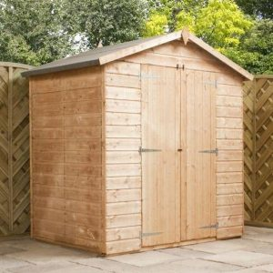 4x6 Waltons Mini Tongue and Groove Apex Wooden Shed Closed Doors