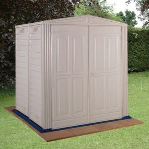 5' 8 x 5' 10 StoreMore Vinyl Hut Apex Metal Shed With floor