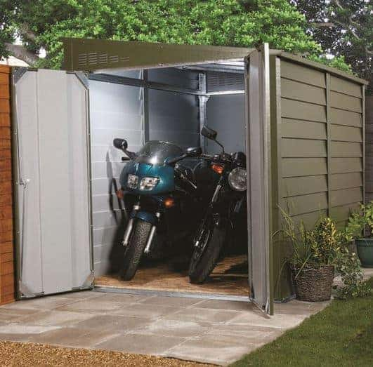 5' 9 x 8' 7 Trimetals Motorcycle Garage
