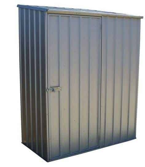 5' X 2' 7  Waltons Titanium Easy Build Pent Metal Shed