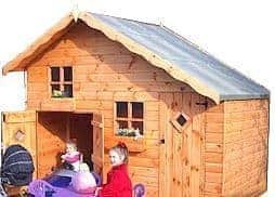 5' x 10' Traditional Play Station Playhouse Outside View