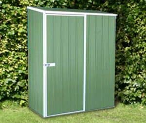 5' x 2'7 Absco Easy Store 1PE Green Metal Shed