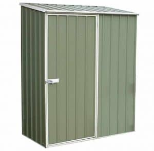 5' x 2'7 Absco Easy Store 1PE Green Metal Shed Closed Door