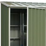 5' x 2'7 Absco Easy Store 1PE Green Metal Shed Internal View