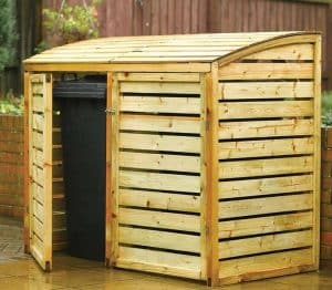 5 'x 3' Rowlinson Double Wheelie Bin Storage