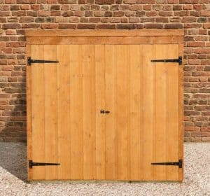 5' x 3' Store-Plus Overlap Tool Store Wide Double Doors Closed