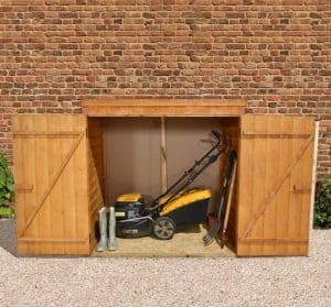 5' x 3' Store-Plus Overlap Tool Store Wide Double Doors Open