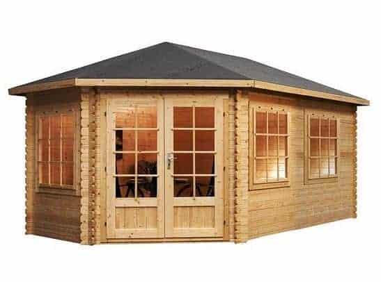 5 x 3 Waltons Left Sided Lodge Grande Corner Log Cabin