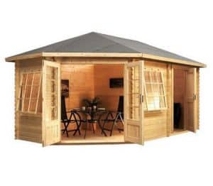 5 x 3 Waltons Left Sided Lodge Plus Corner Log Cabin