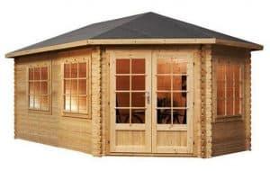 5 x 3 Waltons Right Sided Lodge Grande Corner Log Cabin