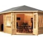 5 x 3 Waltons Right Sided Lodge Plus Corner Log Cabin