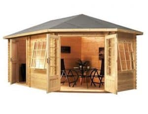 5 x 3 Waltons Right Sided Lodge Plus Corner Log Cabin