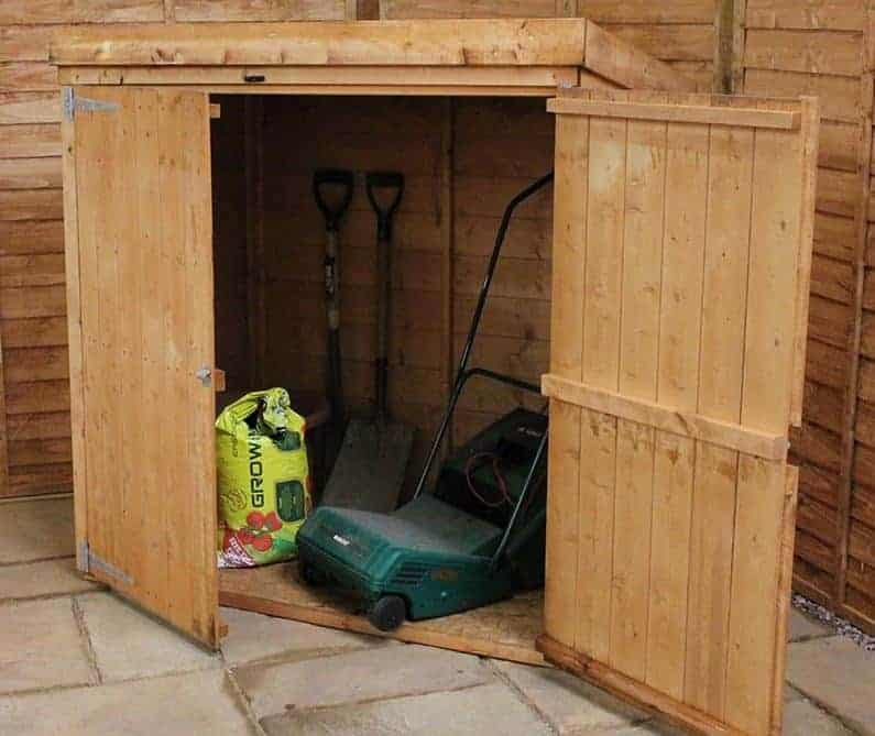 5' x 3' Windsor Shiplap Pent Mower Store