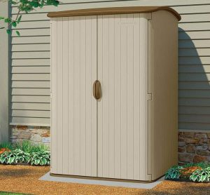 5' x 4' Suncast Resin Conniston Three Vertical Shed