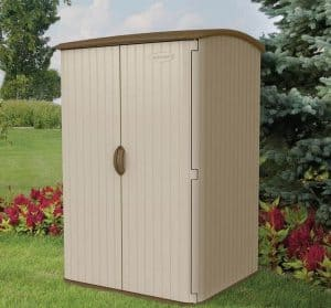 5' x 4' Suncast Resin Conniston Three Vertical Shed Closed Doors
