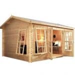 5 x 4 Waltons Home Office Director Log Cabin