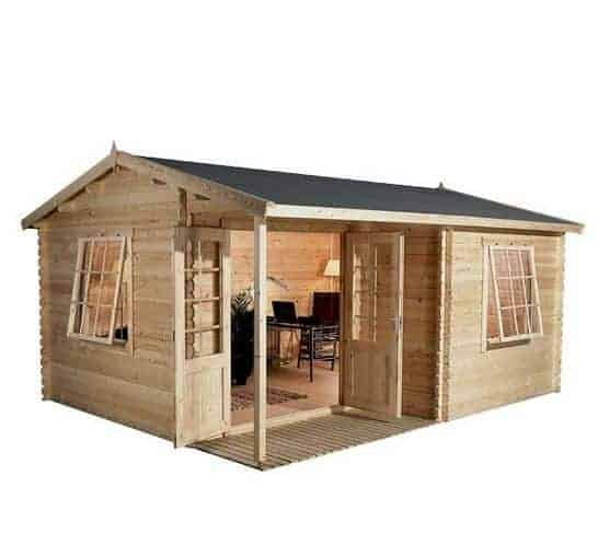 5 x 4 Waltons Home Office Executive Log Cabin