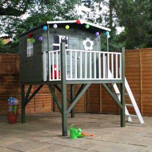 5' x 5' Waltons Honeypot Rose Wooden Tower Playhouse Feature