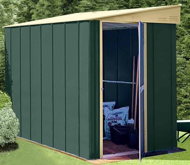 5' x 6' Shed Baron Grandale Lean To Metal Shed