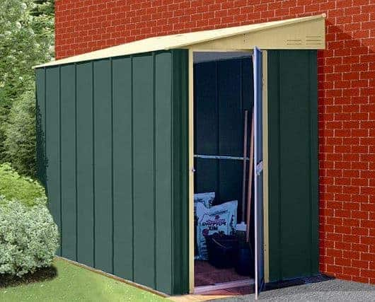 5 X 6 Store More Canberra Six Pent Lean To Metal Shed