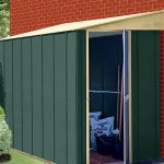 5' x 8' Shed Baron Grandale Lean To Metal Shed Single Open Door