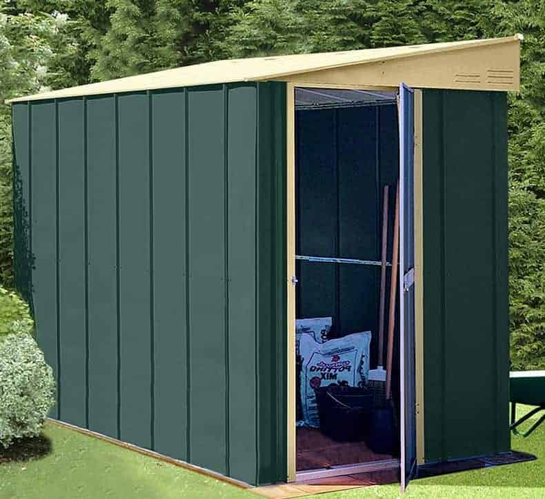 5' x 8' Shed Baron Grandale Lean To Metal Shed