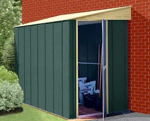 5 x 8 StoreMore Canberra Eight Pent Lean-To Metal Shed
