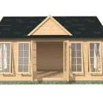5.5 x 4 Waltons Pool House Log Cabin
