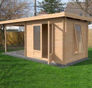 5.5x2.5 Waltons Zen 3 Log Cabin Dimensions Left Side View