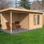 5.5x2.5 Waltons Zen 3 Log Cabin Dimensions Side View