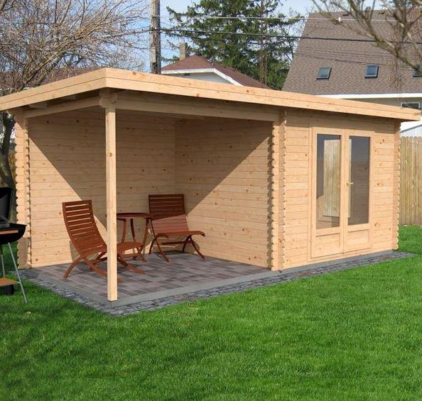 5.5x2.5 Waltons Zen 3 Log Cabin Dimensions Side View & 5.5 x 2.5 Waltons Zen 3 Log Cabin - What Shed