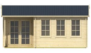 5.60 x 4.80 Sri Lanka Log Cabin Front View