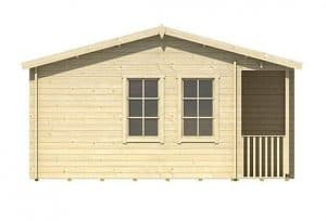 5.60 x 4.80 Sri Lanka Log Cabin Side View