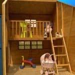 5'11 x 8' Windsor Bramble Cottage Playhouse Internal View