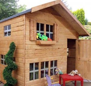 5'11 x 8' Windsor Bramble Cottage Playhouse Natural Wood Colour