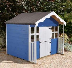 5'2 x 5'1 Play-Plus Cranberry Playhouse Blue