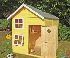 5'3 x 5'6 Shire Croft Playhouse Yellow
