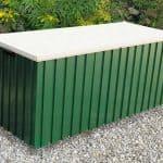 5'7 x 2'4 Store More Emerald 1.7 Green Metal Storage Box