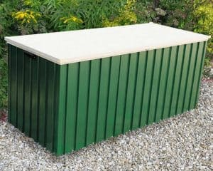 5'7 x 2'4 Store More Emerald 1.7 Green Metal Storage Box