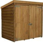 5x3 Waltons Overlap Wooden Garden Mower Store Closed Door