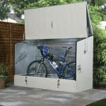6' 5 x 2' 11 Protect A Cycle Trimetal Bicycle Store - Cream