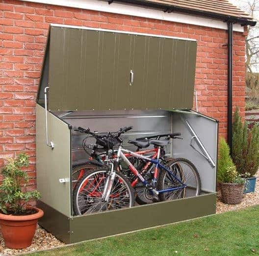 6' 5 x 2' 11 Protect A Cycle Trimetal Bicycle Store - Green