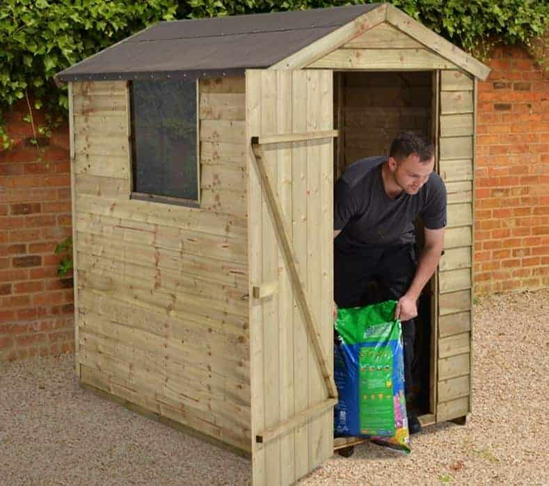 6' X 4' Shed-Plus Pressure Treated Overlap Shed