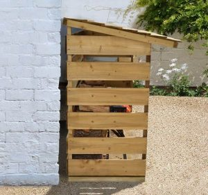 6' x 2' Store-Plus Large Log Store Side