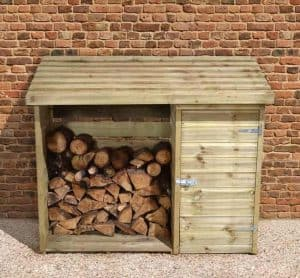 6' x 2' Store-Plus Large Log Store Tool Shed Front